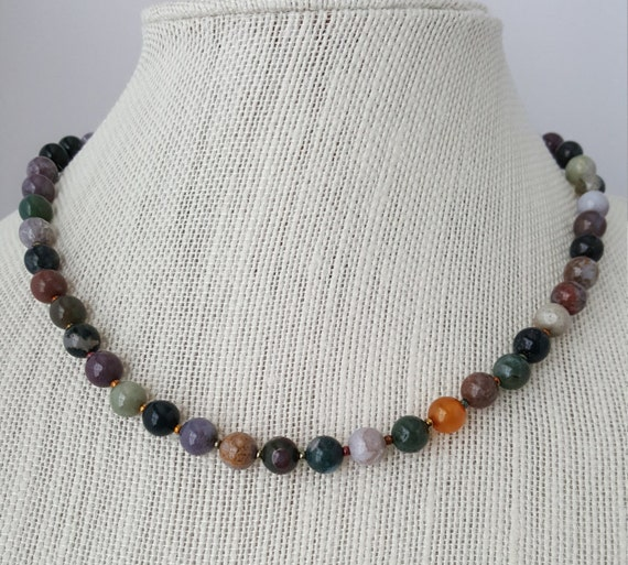 Handmade agate necklace