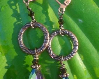 Teardop Crystal Dangle Earrings