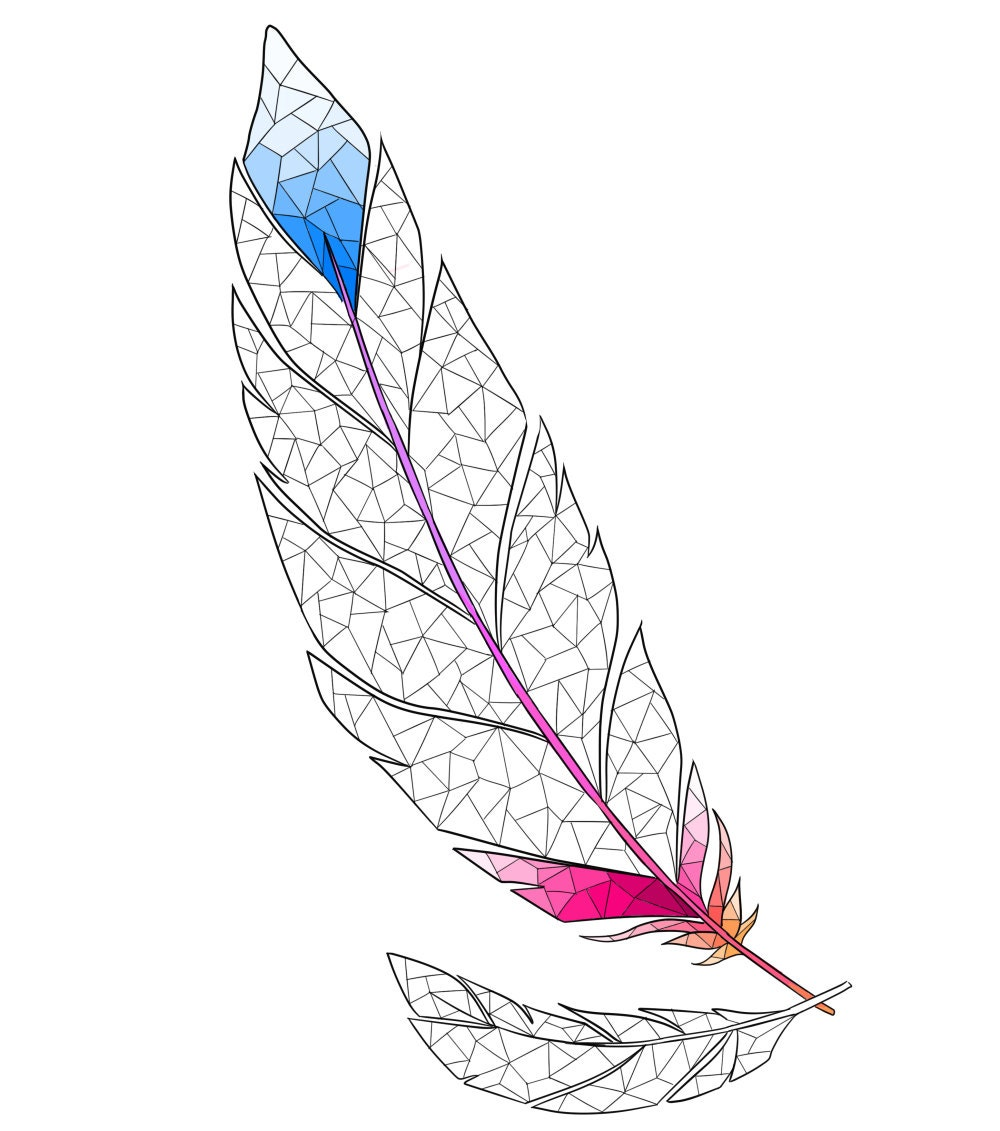 coloring page boho coloring page feather coloring for