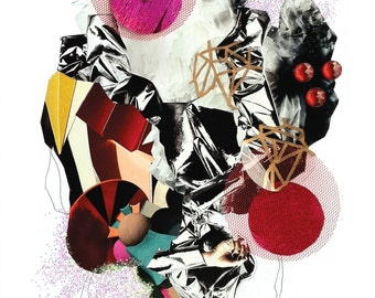 Abstract Collage Art Print #6