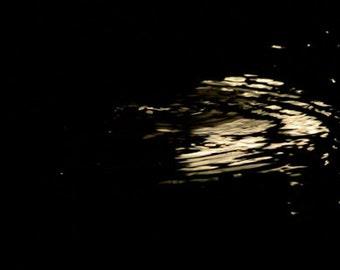 Moonlight in Ripples - Print - Fine Art Photography - night - moonlight - black - gold
