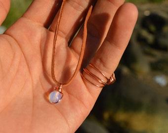 Wire Wrapped Opalite Bracelet / Anklet