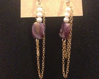Double-Chain Hanging Earrings