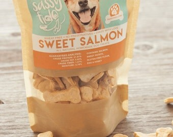 Sweet Salmon Gluten Free Homemade  Dog Treats • Dog Biscuits