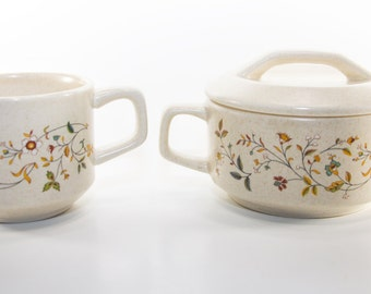 """Lenox Temper-Ware """"Merriment"""" Bowl With Lid and Matching Cup"""