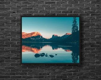 Mountain Lake - Lake Photo - Mountains Photo - Mountain Landscape - Mountain Print - Mountain Wall Art - Mountain Wall Decor - Photography