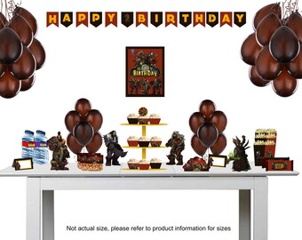 Warcraft Party Supplies, Warcraft Invitation, WOW, Warcraft Birthday Party, Warcraft Invitation, Horde Birthday Party, Horde Invitation