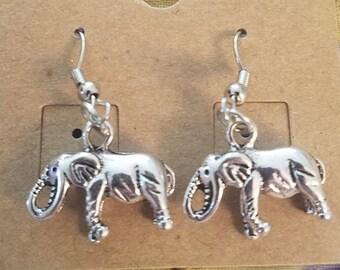 3D elephant earrings