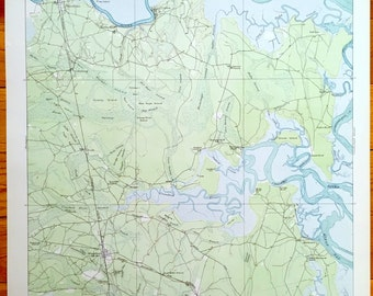 Antique Kingsland Georgia 1918 Us Geological Survey Topographic Map Satilla River Kings Bay