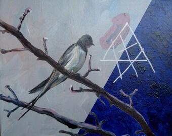 Bird painting Original acrylic painting on canvas