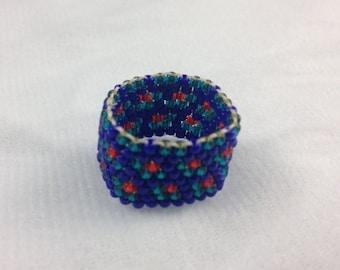 Better Plaid Beaded Ring
