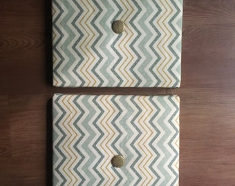 Chevron Wall Decor with Buttons