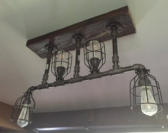 Industrial chic 4 bulb light fixture