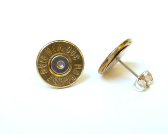 Bullet Jewelry-  300 Brass MAG stud earrings