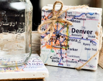 Custom City Map Coasters