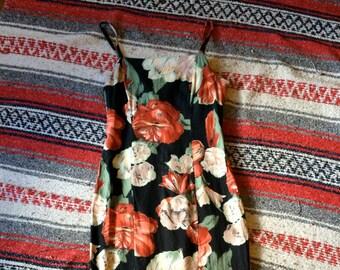 90's Alyn Paige Maxi Dress XS