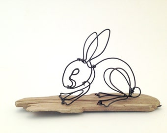 Bunny - wire animal sculpture