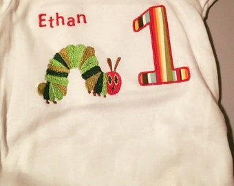 Very Hungry Catapiller Eric Carle Applique T-shirt