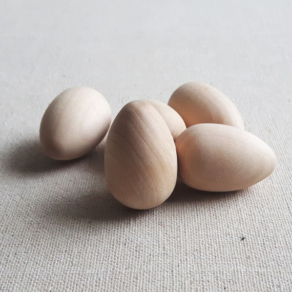 5 pcs small wooden eggs craft eggs diy wooden eggs for Wooden eggs for crafts