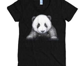 Panda Bear T Shirt - Panda Shirt - Animal Sanctuary Tee - Women's American Apparel T Shirt - Item 1055