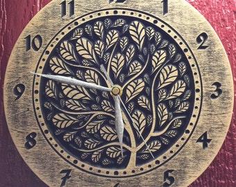 """Clock """"Tree & Leaves"""""""
