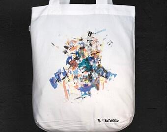 "Tote Bag Artused Design ""The Lukewarm"" 100% Bio - Paint & Print in France -"