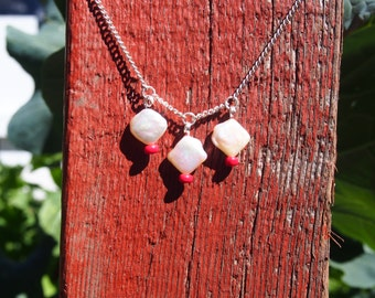 Red up-cycled necklace