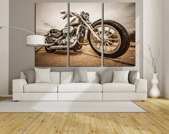 harley davidson wall murals. Black Bedroom Furniture Sets. Home Design Ideas
