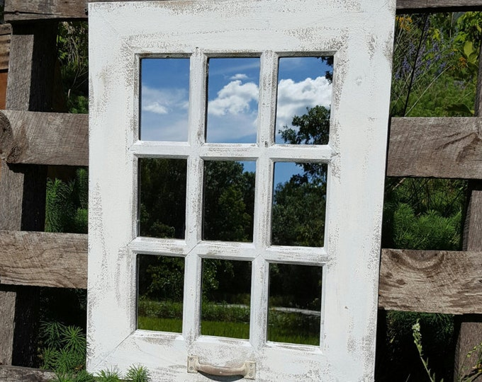 fall sale rustic farmhouse window mirror
