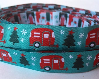 "5/8"" ( 16mm) Airstream Holiday Jacquard Ribbon"