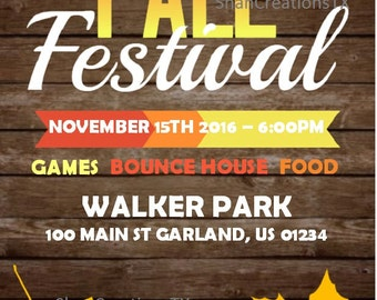 Fall Flyer, Party Flyer, DIY Printable Event Flyer Template, Word Flyer Templates, Digital Download Flyer, Custom Flyer