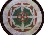 Mythala: Copper Dragonfly; Mandala...Myth...Mythala (May use as Wall Hanging, Altar Cloth, Prayer, Medicine Wheel, Sacred Art, Devotion)