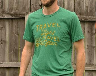 Travel Light, Travel Often Mens Triblend T-Shirt