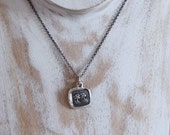 You are my Destiny - Two Trees Wax Seal Necklace - In Vain Destiny Seperates Us - 310