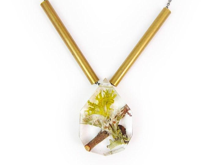 Floral Terrarium Necklace
