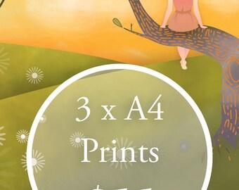 Wall Art Print Special - 3 x A4 prints