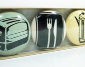 magnet set of kitchen stuff. (3pk)