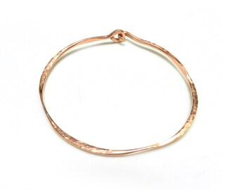 Bangle Bracelet, Hammered Copper Bangle, Minimalist Jewelry, Unisex Jewelry, Copper Jewelry, Unisex Bracelet, Made by Durango Rose