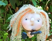 Luciana the Moon Witch - Kitchen Witch Doll - Herb Witch - Green Witch - Good luck doll for your kitchen!