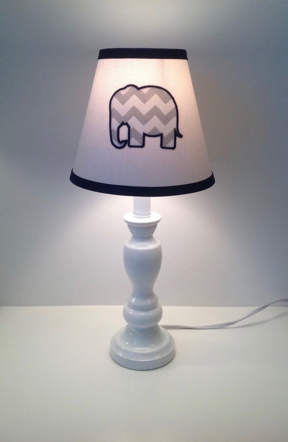 Applique Elephant Nursery Lamp Shade Other Colors Available
