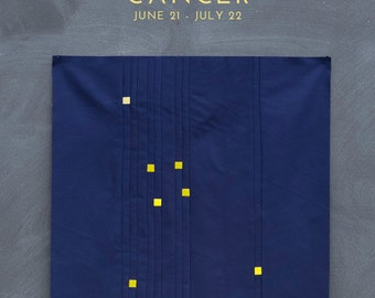 Cancer Constellation Block PDF pattern - Quilting Patchwork