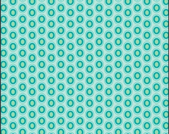 ON SALE Oval Elements Peacock - The Oval Elements Collection -  Art Gallery Fabrics - Premium Cotton Quilting Fabric - One Yard