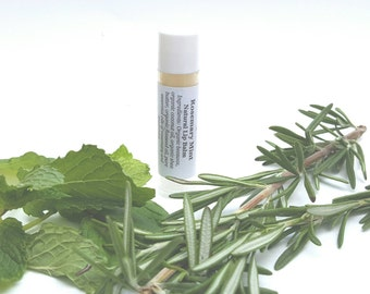 Rosemary Mint Lip Balm, Natural Lip Balm, Organic Oils, Essential Oil, Tube Lip Balm, Lip Soother, Lip Chap, Stick Balm, Stocking Stuffer