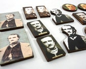 Edgar Allan Poe Wood Craft Pieces - Collection of 16 Art Embellishments