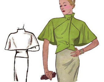 Pattern Decades of Style 1930 capelet