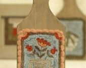 Fraktur Bouquet, Honeysuckle Lane, Primitive Punch Needle Design, Folk Art, Needlework