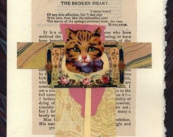 Pet Sympathy Card Broken Heart