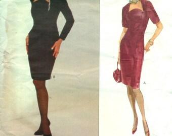 Vogue 2766 OSCAR de la RENTA American Designer Fitted Tapered Dress ©1991