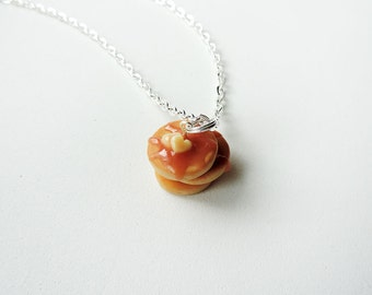 Lovely Pancake Stack Charm Necklace