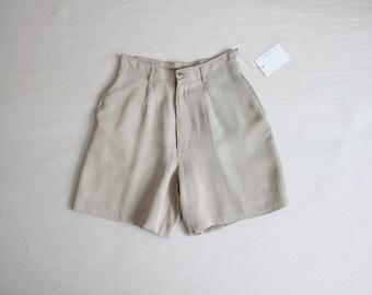 beige shorts | vintage high waist shorts